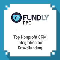 FundlyPro can integrate with your nonprofit CRM to streamline donor data collection throughout your crowdfunding campaign.