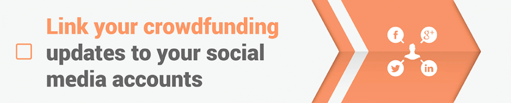 Crowdfunding Updates - Link your updates to your social media accounts