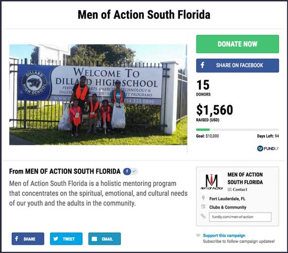 Fundraising Ideas for Organizations and Clubs: Men of Action South Florida.