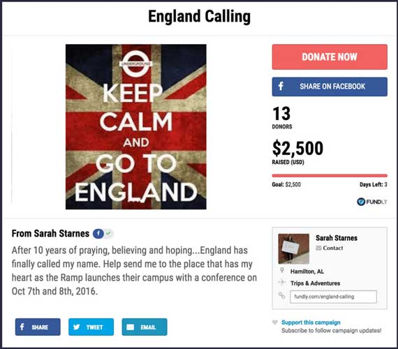 Fundraising Ideas for Trips and Adventures: England Calling