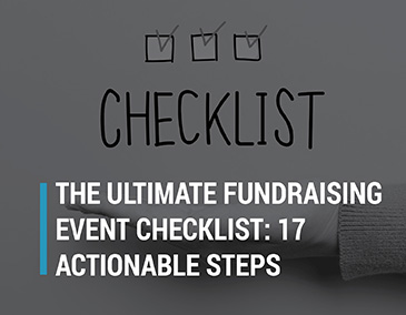 Check out our ultimate fundraising event checklist.