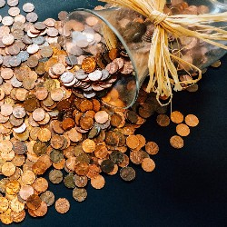 A simple fundraising idea for funerals and memorials is to hold a penny drive with collection jars around the community.