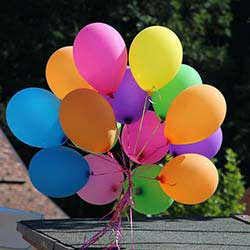 A balloon raffle is an easy way to