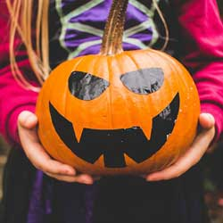 Sell jack-o-lanterns to fundraise.