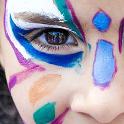 Try kids' face painting as a kids and families fundraising idea.