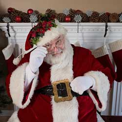 Host a pictures with Santa event to raise money.