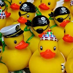 Host a rubber duck race to raise money.