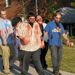 A zombie run or walkathon adds a Halloween theme to your event.