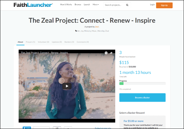 Check out this project on FaithLaucher, a Christian crowdfunding website.
