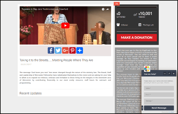 Take a look at this crowdfunding campaign on FundThisMinistry.