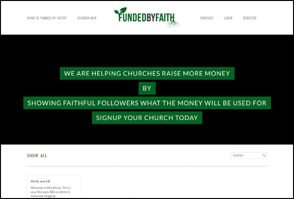 Check out Funded by Faith's Christian crowdfunding website.