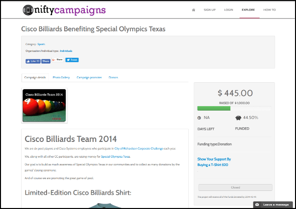 See how Nifty Campaign's online product crowdfunding site can help you raise money.