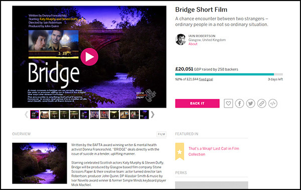 Here's an example from the Indiegogo crowdfunding website.