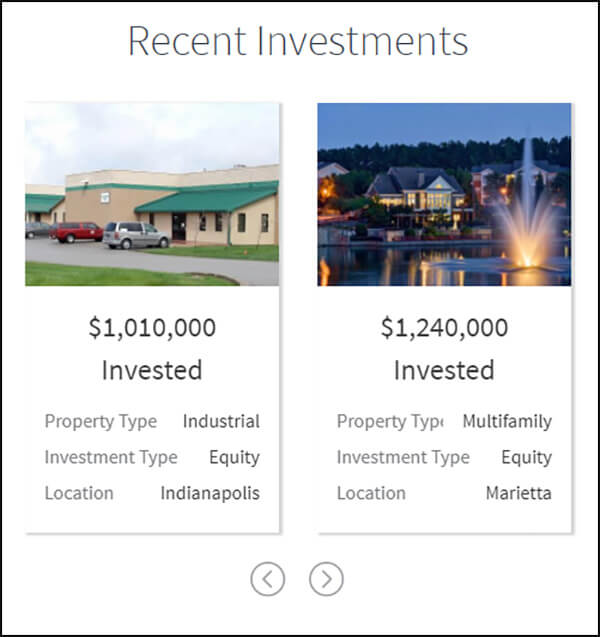 Here are example campaigns from RealtyMogul.