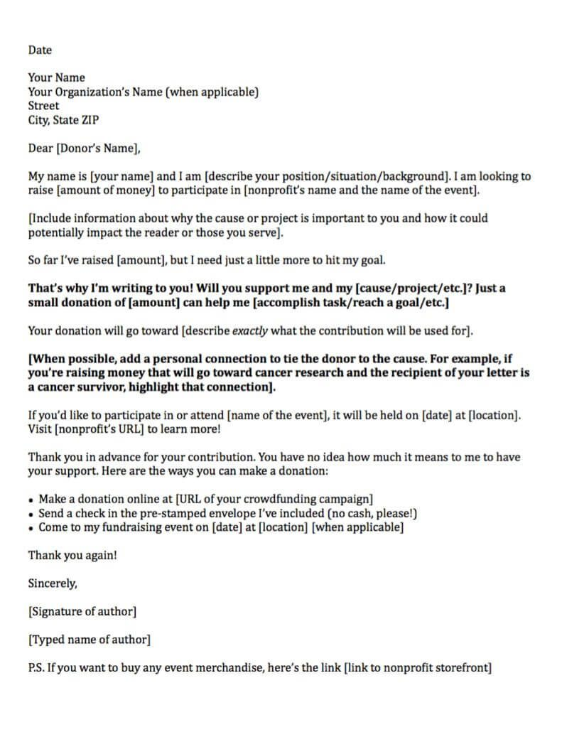 Donation Request Letters Asking For Donations Made Easy - Letter for donations for fundraiser template