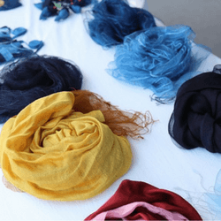 Create and sell handmade scarves - fundraising ideas for cancer