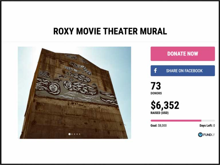 Crowdfunding Photos: Roxy Movie Theater Mural