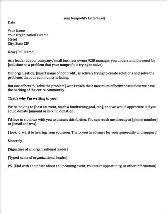 Great Corporate Sponsorship Letter Example