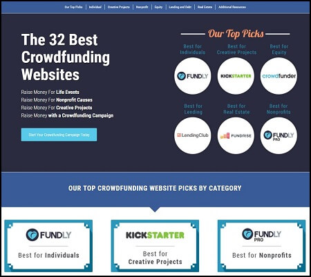 As part of the research and preparation crowdfunding tip, we recommend you review the top crowdfunding websites and pick a platform.