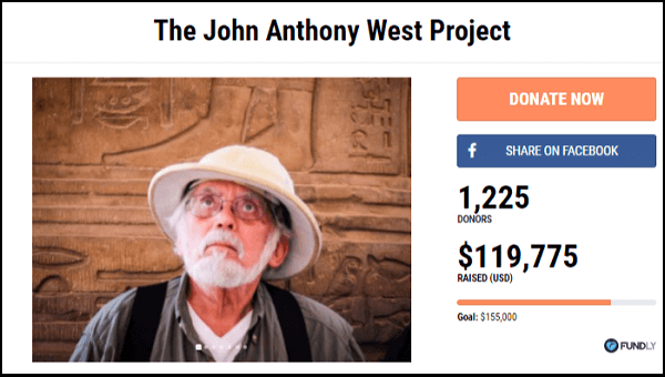 The John Anthony West Project crowdfunding campaign is a successful example of a fundraiser for a cancer-related cause.