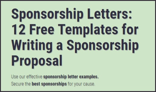 Sponsorship letters write great proposals with 12 templates spiritdancerdesigns Images
