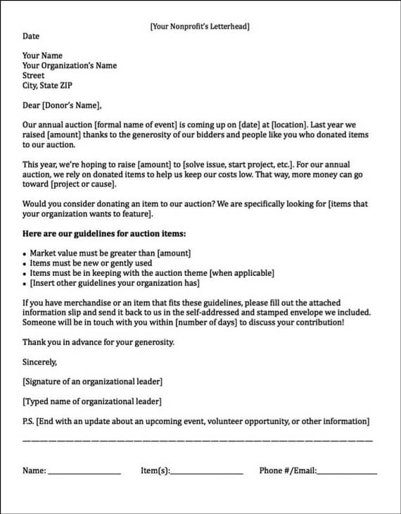 Marvelous Example Of A Sponsorship Letter Requesting Auction Items In Application For Sponsorship Template