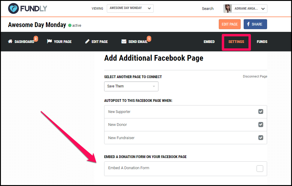 Accept Donations on Facebook - Step 1