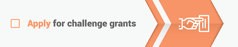 Applying for challenge grants is a great way to fundraise for your capital campaign.