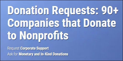 Donation Requests: 90+ Companies That Donate to Nonprofits