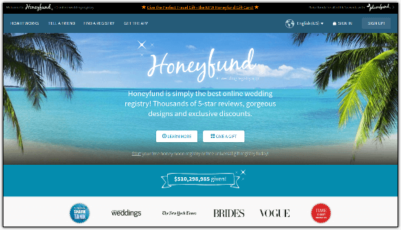 Honeyfund is a unique GoFundMe alternative that empowers couples to crowdfund their honeymoons and weddings.