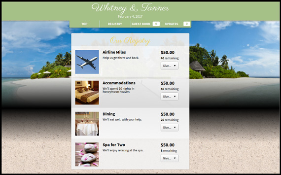 If you're looking to fundraise for your wedding or honeymoon, try the GoFundMe alternative called Honeyfund.