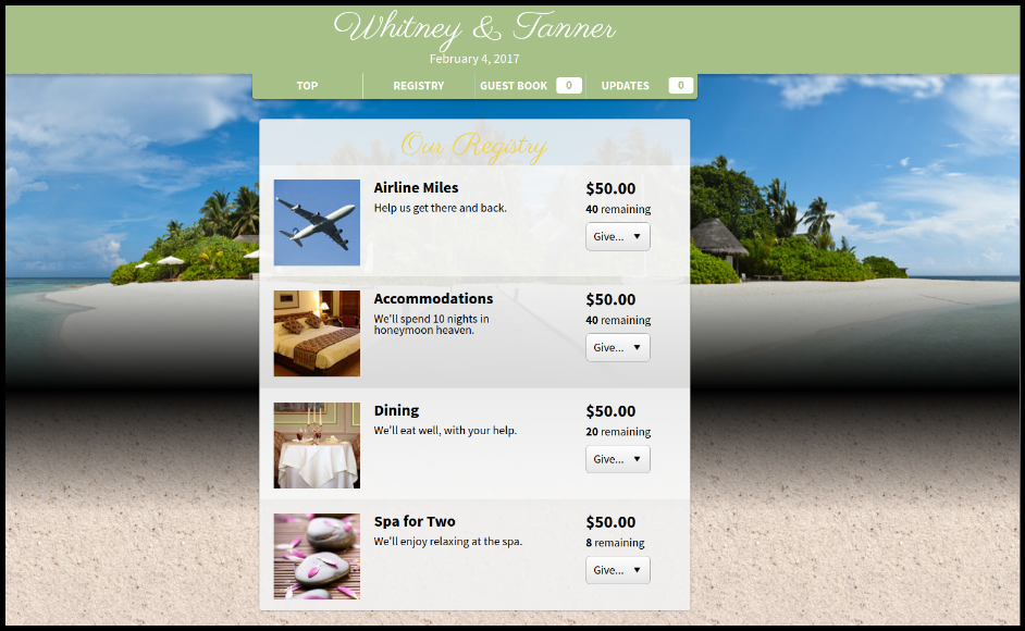 Honeyfund makes crowdfunding for weddings and honeymoons easy and fun!