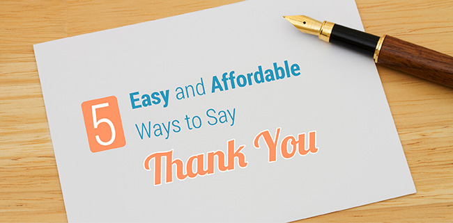 Learn 5 ways you can say thank you to your supporters.