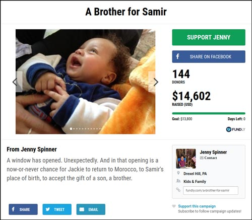 Look at why A Bother for Samir was such a successful crowdfunding campaign.