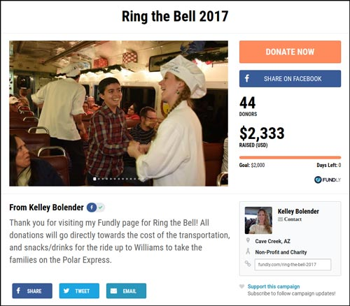Check out the Ring the Bell campaign.