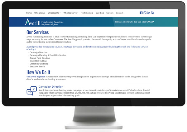Averill Fundraising Solutions offers a wide range of fundraising consulting services as a leading capital campaign consultant.