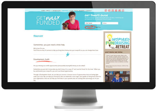 Learn more about Sandy Rees and her fundraising services on her website.