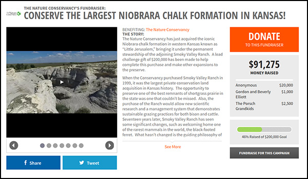 The Niobrara Chalk Formation is the tenth most funded crowdfunding campaign.
