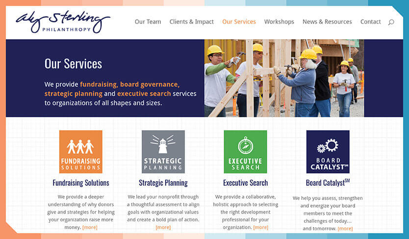 Aly Sterling is a full-service consulting firm with a whole host of nonprofit services.