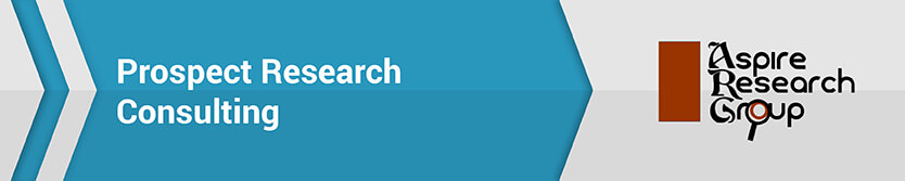 The Aspire Research Group is a fundraising consulting firm that focuses on prospect research.