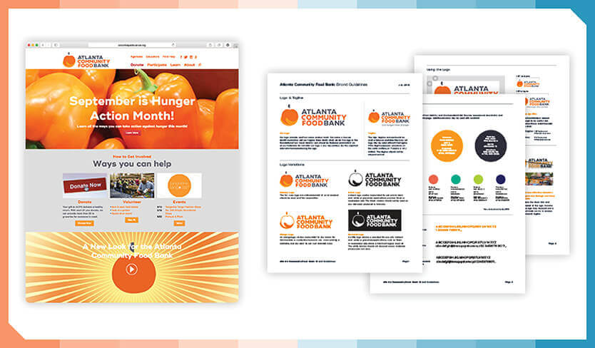 Here is an example of some of the communication materials they've created for Atlanta Community Food Bank.