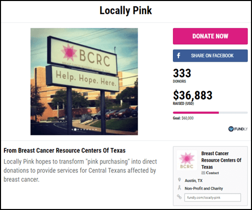 1bcb9c9dd85174 Check out crowdfunding as a fundraising idea for breast cancer research,  treatment, and awareness