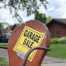 Garage sales are a great fundraising idea for breast cancer treatment.