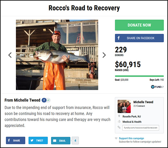 Rocco's Road to Recovery is an example of a personal fundraising campaign that exceeded its goals.