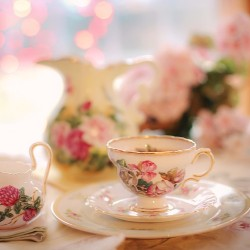 A tea party is a simple and fun fundraising idea for breast cancer treatment and awareness.