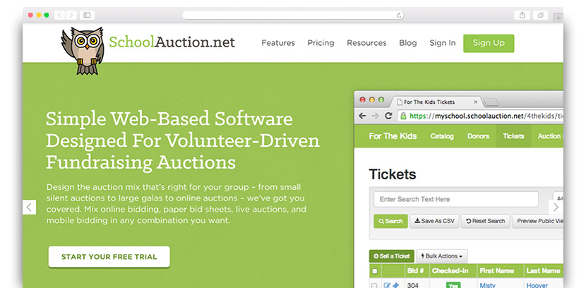 see how schoolauctions mobile bidding software can help your organization