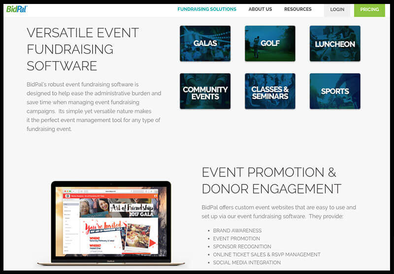 BidPal's event fundraising software can help your nonprofit organize and run a successful fundraiser.