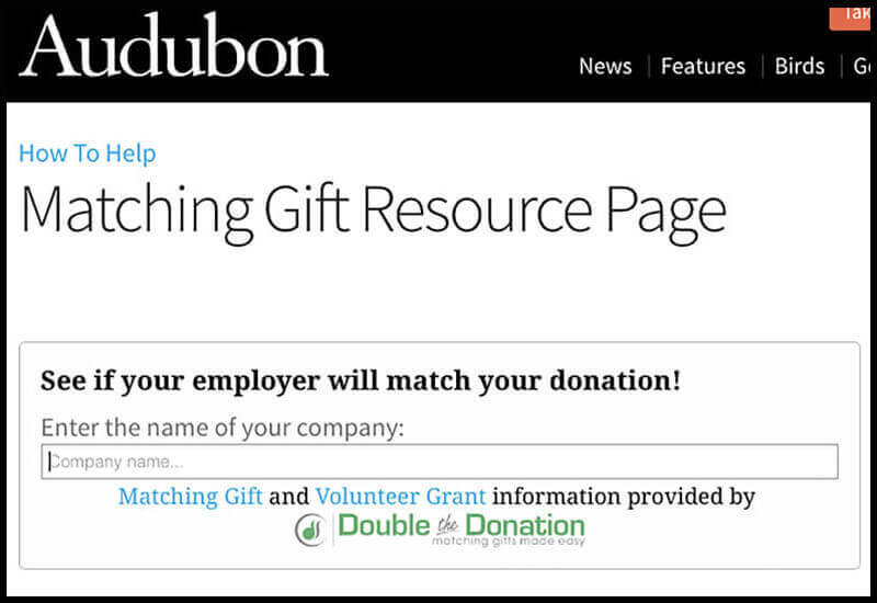 Double the Donation's matching gift search tool helps donors find more information about their employer's program.
