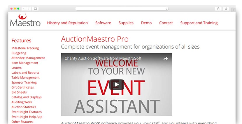 See how AuctionMaestro's charity auction software can help your nonprofit.