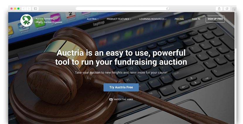 Keep Auctria's charity auction software on your radar when looking for great providers.